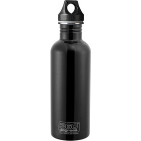 360° degrees Stainless Bidon 1000ml, black